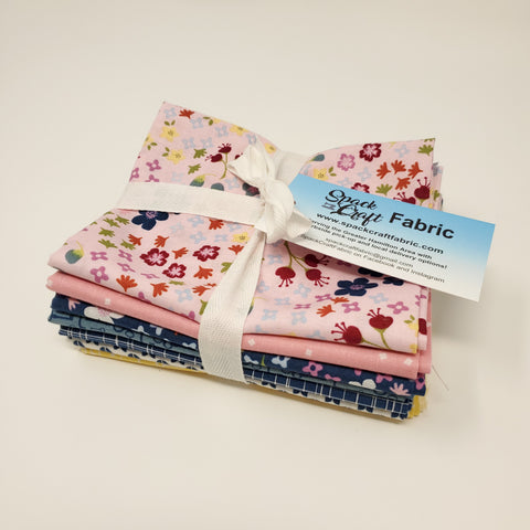 Hand-Cut Fat Quarter Bundle - Bloom and Grow by Riley Blake (7pc)