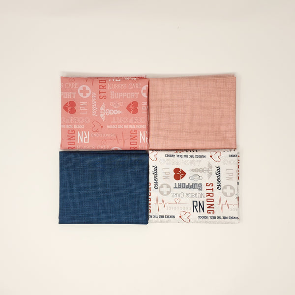 Hand-Cut Fat Quarter Bundle - Nurses Care (4pc)