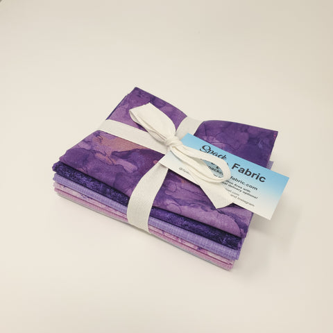 Hand-Cut Fat Quarter Bundle - Northcott Purple Bundle (6pc)
