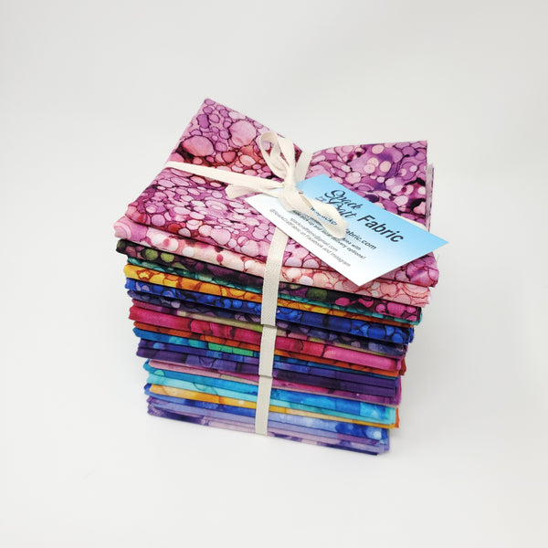 Hand-Cut Fat Quarter Bundle - Northcott Bliss Bold and Bright (23pc)