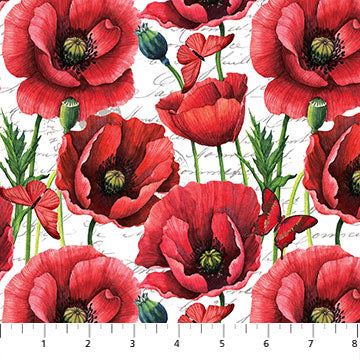 Ooh La La! -  Poppies - 23565-10 (1/2 Yard)