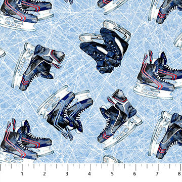 Power Play - Hockey Skates - 23623-42 (1/2 Yard)