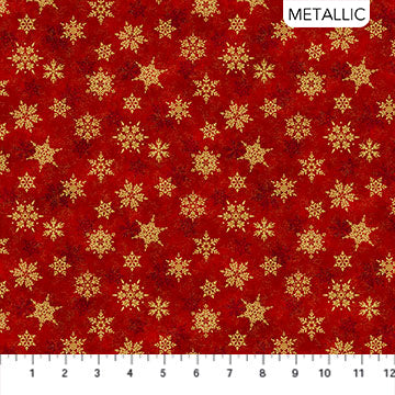 Shimmer Frost - Red & Gold - 24196M-24 (1/2 Yard)