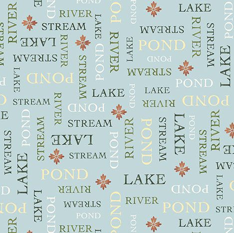 Outdoors - Water Words - 26394 B (1/2 Yard)