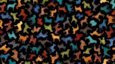 Must Love Dogs - Silhouette Toss - 26937 J (1/2 Yard)