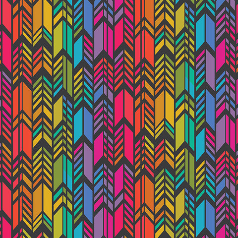Art Theory - Rainbow Feather - A-9701-C (1/2 Yard)