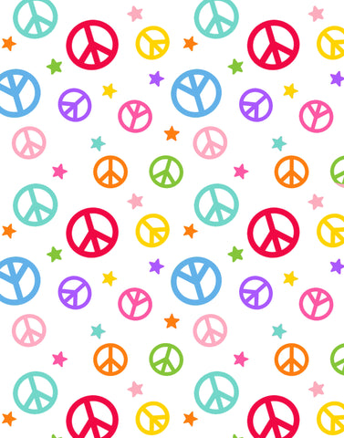 Peace Signs - 9420 -01 (1/2 Yard)