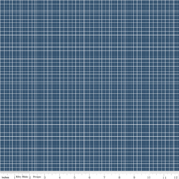 Bloom and Grow - Navy Plaid - C10115-NAVY (1/2 Yard)