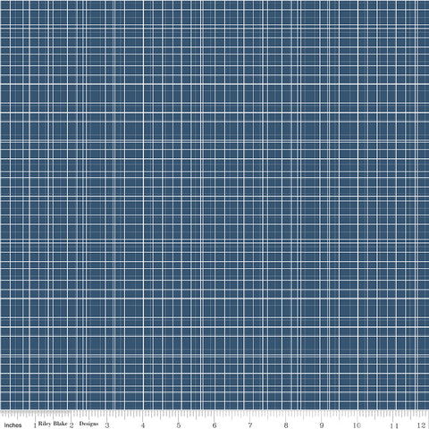 Bloom and Grow - Navy Plaid - C10115-NAVY
