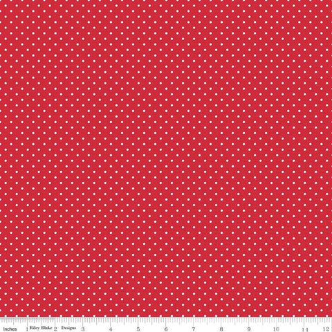 Riley Blake - Red Swiss Dot - C670-80 (1/2 Yard)