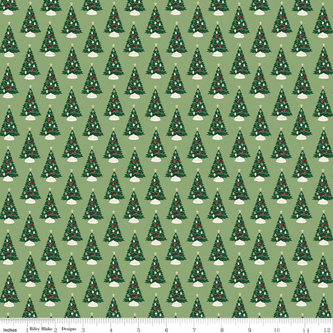 Christmas Traditions - Christmas Trees - C9591-GREEN (1/2 Yard)
