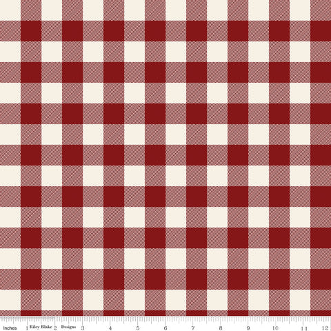 Christmas Traditions - Plaid - C9595-RED (1/2 Yard)