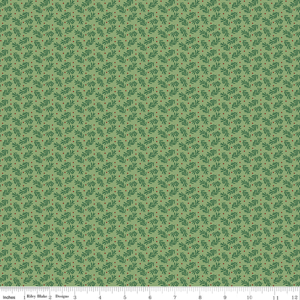 Christmas Traditions - Sprigs - C9596-GREEN (1/2 Yard)