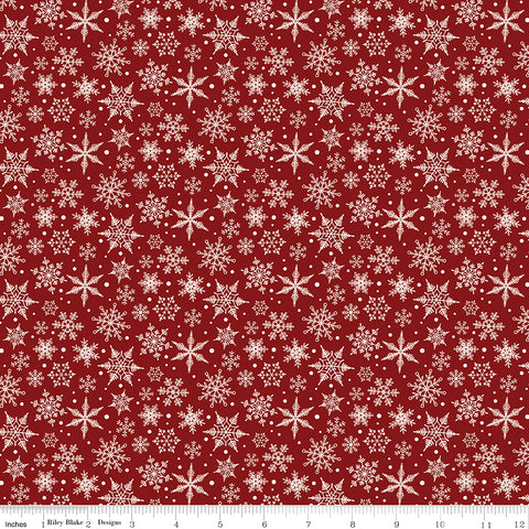 Christmas Traditions - Snowflakes - C9597-RED