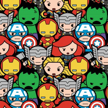 Marvel Comics - Kawaii Marvel - CAM13020701-1 (1/2 Yard)