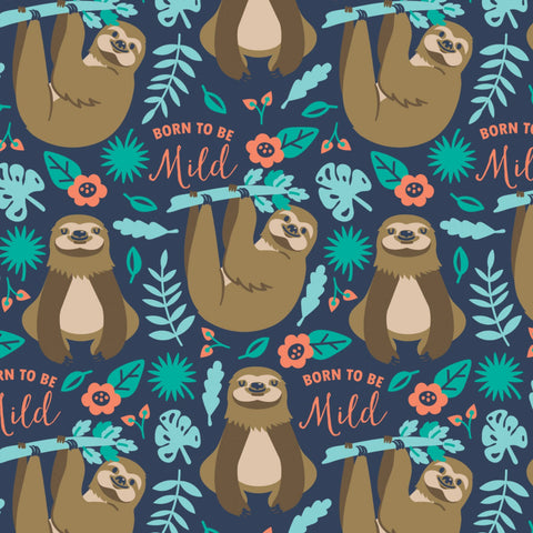 Fleece - Born To Be Mild - CAM21181701A-2 (1/2 Yard)