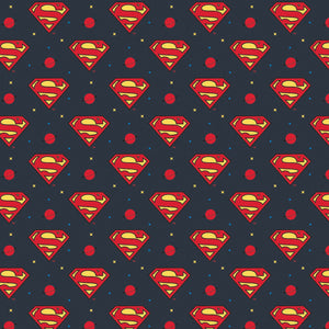 Young DC - JL JR Superman Logo - CAM23421469-4 (1/2 Yard)