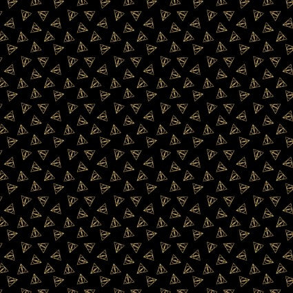 Harry Potter - Deathly Hallows Metallic - CAM23800109L-01 (1/2 Yard)