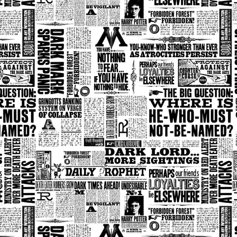 Harry Potter - Wizarding World Headlines - CAM23800120-01 (1/2 Yard)