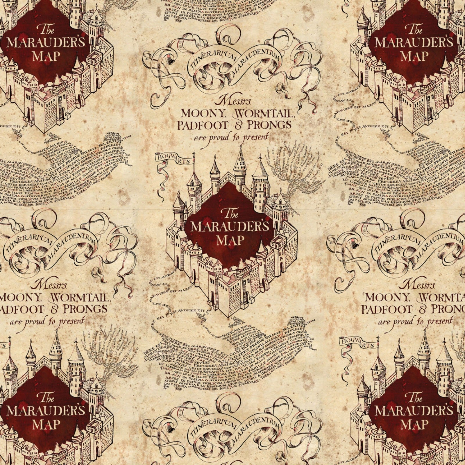 Harry Potter - Marauder's Map - CAM2380019-01 (1/2 Yard)