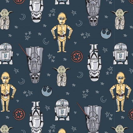 Star Wars - Characters - CAM73010803-2 (1/2 Yard)