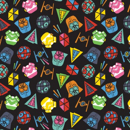 Star Wars - Tossed Icons - CAM73011101-2 (1/2 Yard)