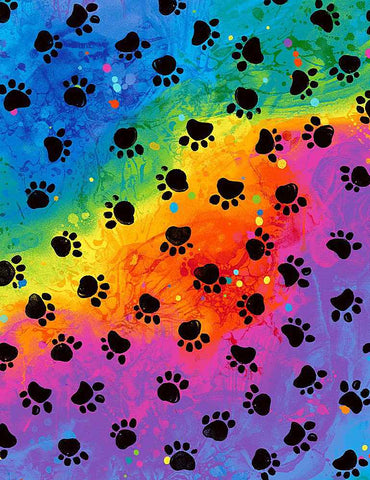 "Remnant - Rainbow Paws - CAT-C7486 RAINBOW - 22"" by WOF"
