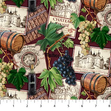 You Had Me At Wine -  Barrels and Grapes - DP23575-26 (1/2 Yard)