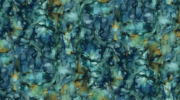 Journey -  Wideback - Alcohol Ink Coordinate (Blue/Green) - B23896-64