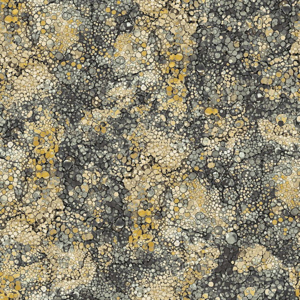 Journey - Alcohol Ink Coordinate (Black/Yellow) - DP23899-94 (1/2 Yard)