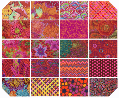 "5"" Charm Pack - Kaffe Fassett Collective - New Classics - Equator (42 pc)"