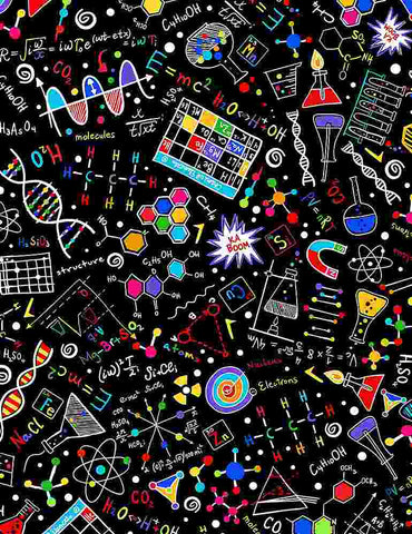 Math & Science - Bright Science Doodles - GAIL-C8249 Black