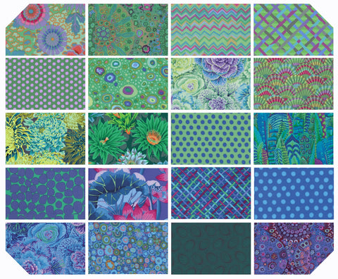 Fat Quarter Bundle - Kaffe Fassett Collective - New Classics - Ocean (20 pc)