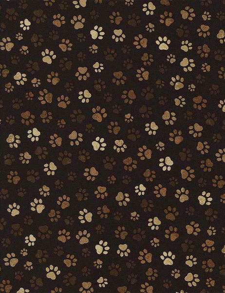 Pure Breeds - Paw Print - PAW-C1846 MUD (1/2 Yard)