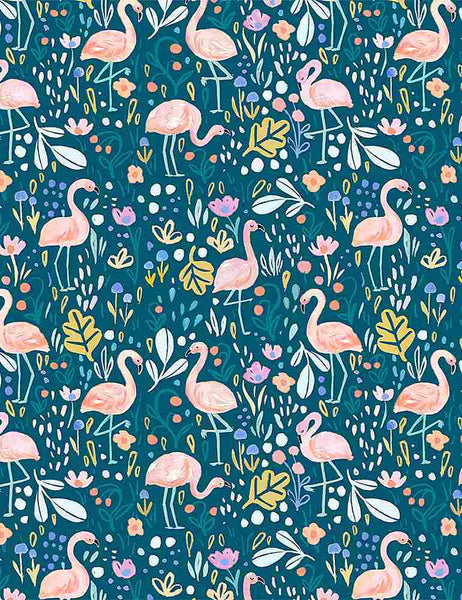 Summer Lovin' - Flamingo Fling - STELLA-DJL1740 (1/2 Yard)