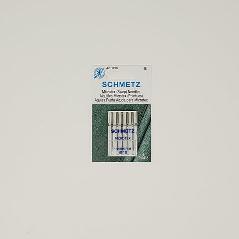 Schmetz - Microtex needles (5) - Size 70/10