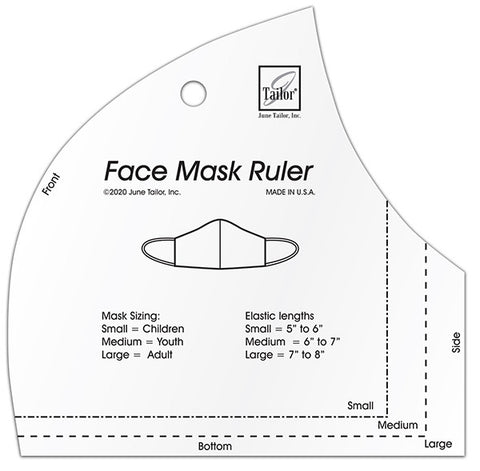 June Tailor Face Mask Ruler (makes 3 sizes)