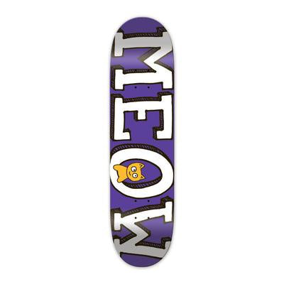 Meow Logo Mini Deck Purple - 8.25
