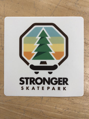 Stronger 3in Logo Sticker