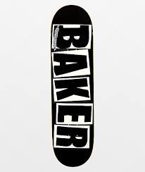 Baker Team Brand Logo Black/White 8.25