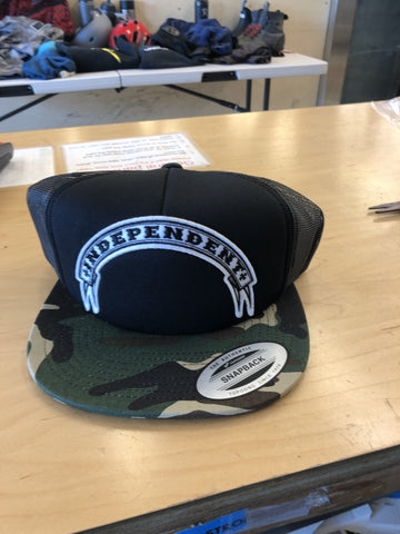 Independent Steady Mesh Trucker Camo Hat