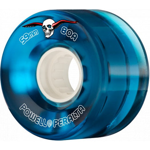 Powell-Peralta Clear Cruiser Blue 59mm