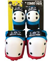187 Killer Pads Combo Pack Red/Blue