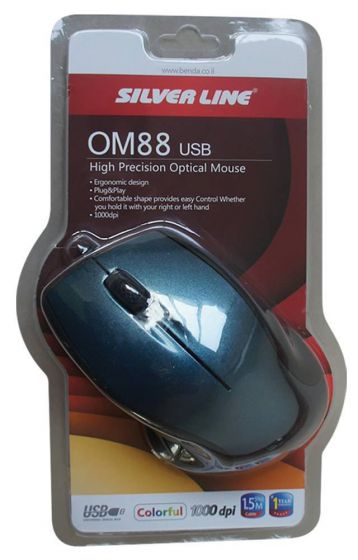 Mouse Silver Line Wired OM88