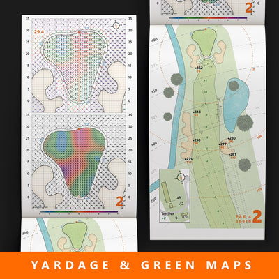 18 Mile Creek Golf Course yardage books for golf