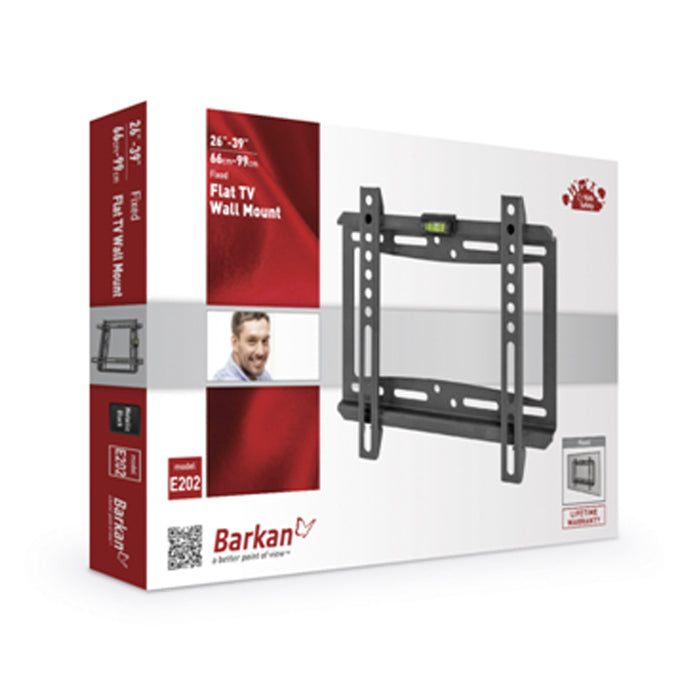 Barkan fixed wall mount for screens up to 39 inches