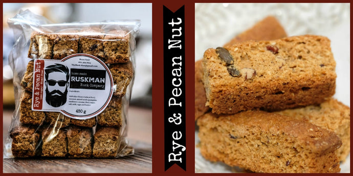 The Rusk Man - Rye & Pecan Nut Rusks