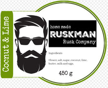 Load image into Gallery viewer, The Rusk Man - Coconut and Lime Rusk