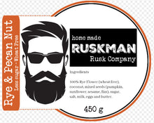 Load image into Gallery viewer, The Rusk Man - Rye & Pecan Nut Rusks