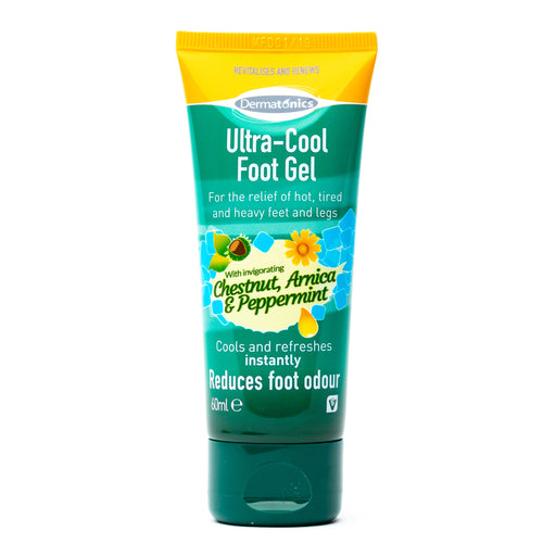 Dermatonics Ultra-Cool Foot Gel with Chestnut, Peppermint, and Arnica